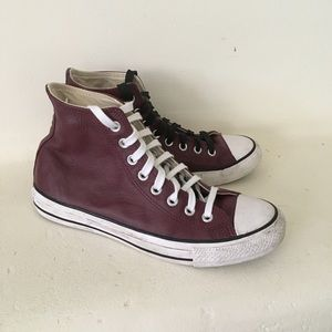 Converse Chuck Taylor leather high tops